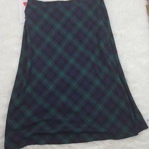 Basic Editions Womens 10 Skirt Plaid